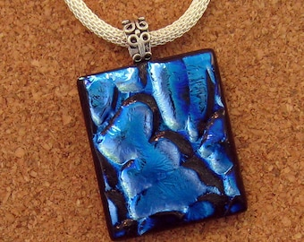 Dichroic Fused Glass Pendant - Dichroic Jewelry - Fused Glass Pendant - Fused Glass Jewelry - Dichroic Necklace