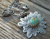 Green Turquoise Forest Pendant