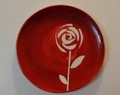 Rose earthenware plate (studio sample)