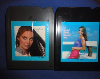 """Lot of 2 8 Track Tapes Crystal Gayle """"When I Dream"""" & """"Greatest Hits"""" Ships Free"""