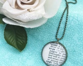 Yoga Word Necklace~Vintage Dictionary Word Pendant~Gift for Friend~Keepsake Jewelry~Namaste Gift~One Word Necklace