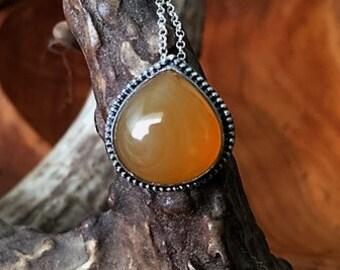 OOAK - Carnelian, Sterling Silver - Necklace