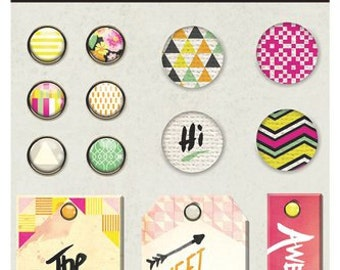 BasicGrey - Highline Collection - Mixed Brads