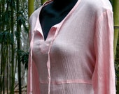 Vintage Gauze Dress - Pink - Size Medium to Large