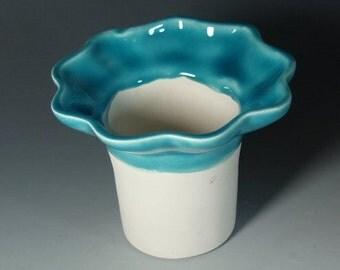 African Violet Pot Slim Mini Insert Caribbean Blue