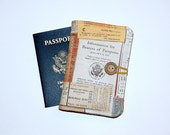 Passport Cover Wallet Travel Organizer - Eclectic Documents