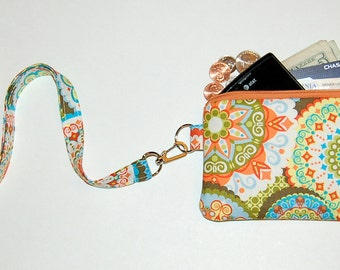 California Dreamin' - Wallet Zipper Pouch with Removable Lanyard - Cell Phone Pouch / iPhone Pouch / ID Card Holder / Coin Purse