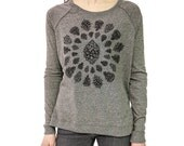 Pinecone Longsleeve womens shirt relaxed fit heather brown nature tree outdoor design