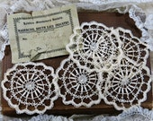 Handmade Antique Lace Medallions, 1800s ... Nagercoil South Lace Industry, India...London Missionary Society...Embellishment Lace Trim #2