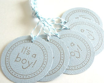 It's A Boy Gift Tags - Set of 5 Tags