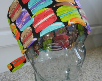Fold Up Surgical Scrub Hat with French Macarons