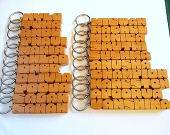 20 NAME SPECIAL - Bulk Wood Name Keychains - Personalized - Custom Carved to Order