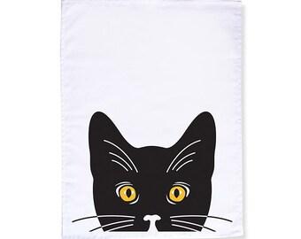 Black Cat Tea Towel/Dish Towel