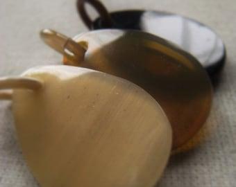 Horn Teardrop Buffalo Horn Pendant Item No. 6280