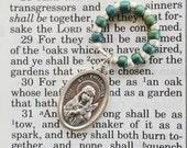 Rosary Ring - Catholic rosary beads St. Philomena patron saint beads Italy prayer prayers