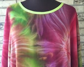Plus Size Lightweight Rayon Tie Dye Tunic