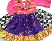 Disney Halloween dress Mickey Mouse Donald Duck girls boutique clothing custom