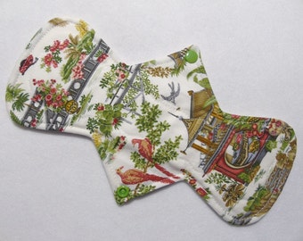 """10.5"""" (26.7 cm) Heavy / Ultra Absorbency - Reusable Cloth Menstrual Pad (10HC) - Scenes of the Orient"""