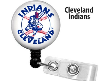 ID reel with MYLAR covering...Baseball Cleveland retro logo