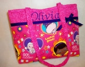 Disney fabric Vet Doc McStuffins pink or blue SALE 16% off New 2016 Girls toddler tiny tote youth bag purse handbag great birthday gift