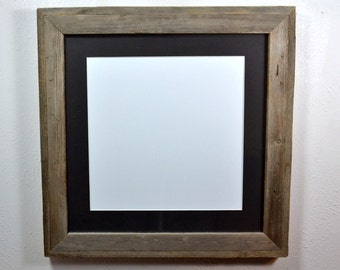 """16x16 gallery style picture frame with black mat for 12"""" x 12"""" ,11x11,11x14,13x13 or 10x10"""