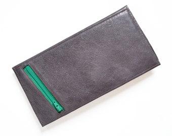 Passport Wallet / Leather Passport Wallet / Travel Wallet / Passport Case / Leather Passport Holder - The Stella in Dark Slate Grey