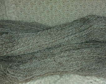 Handspun yarn, 350 yds  lace weight Olde English Babydoll Southdown with  pygora goat