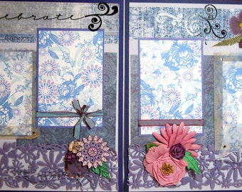 Scrapbooking Premade Pages - Celebrate - Kitsnbitscraps