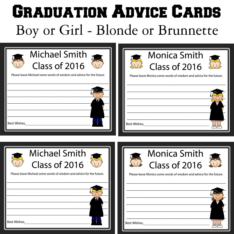 24 Personalized Graduation Advice Cards Words of Wisdom