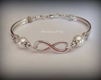 Bridesmaid Infinity Bracelet: Bridesmaid Jewelry, Infinity Jewelry, Wedding Bracelet, Wedding Jewelry, Bridal Party Gift, Jewery for Bride