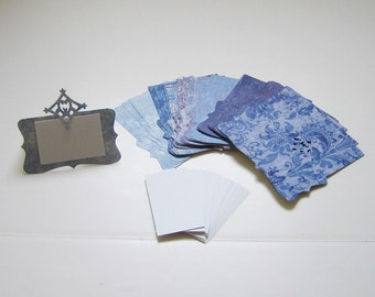 Place Cards Blue (Set of 39)