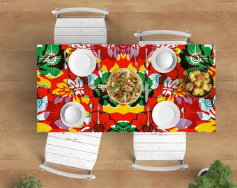 Original design Tablecloth, designer tablecloth, rectangle tablecloth, tablecloth, colorful tablecloth, modern tablecloth
