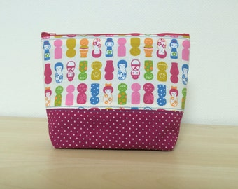 Kokeshi doll pouch