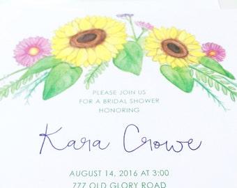 Sunflower Bouquet Invitation