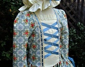 Girls Colonial Dress/ Williamsburg Costume(cluny & ribbon trim) ..Special Order ONLY(PLEASE check lead time inside ad)