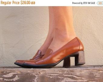 FLASH SALE Vintage wedge heels / Anne Klein / chunky heels pumps 8 M