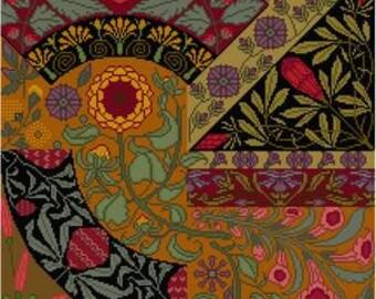 Botanical Cross stitch pattern Anton Seder Floral panel PDF