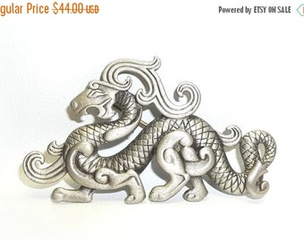 JJ Dragon pewter pin Jonette Jewelry HTF