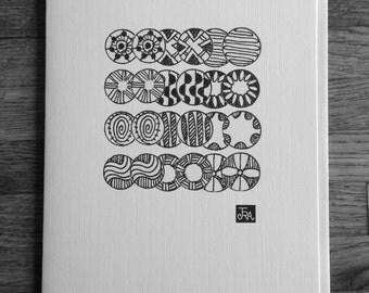 Greeting card / Circle Patterns- Zen art card