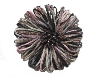 Broche fleur Abaka