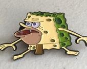 Primitive Sponge Enamel Pin