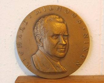 1969 Nixon commemorative medallion  2 3/4 inches Richard Nixon Republican President Presidential Election Political souvenir Politics