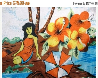 Valentines Day Sale 1970's Vintage Hawaiian Shirt, Waikiki Holiday, Luau, beach party or just to be in style for Summer, Size Large, Hallowe