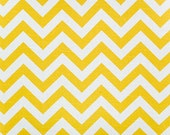 CORN YELLOW CHEVRON Premier Prints Fabric by the Yard. Cotton Home Decor. More than 1 yard Available. Ready to Ship. Sewing Fabric. Crafting