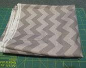 Sale Fabric Sale - 2 Yards - Riley Blake Medium Chevron Gray Tonal - Quilting Cotton Destash