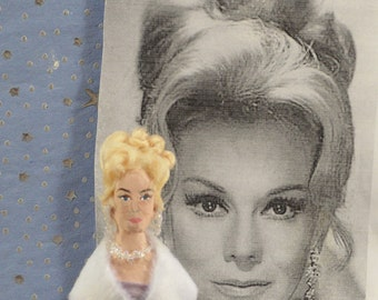 Eva Gabor Doll Art Miniature Celebrity Character