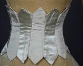 Antique 19C Victorian Swiss waist corselet 1890s  Bridal waist belt burlesque corset waist cincher