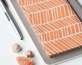 SALE - Fabric Checkbook Cover, Herringbone Check Book Holder, Teacher Gift Idea