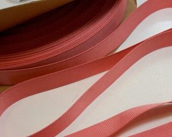 Pink Orange Ribbon, Blush Grosgrain Ribbon 5/8 inch wide x 10 yards, Offray Blush Ribbon