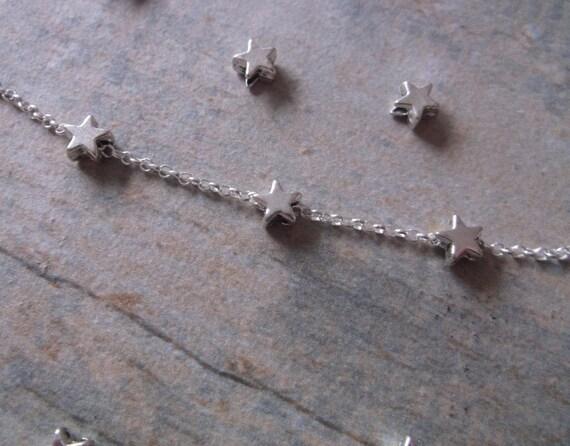 Girls Sterling Silver Star Bracelet